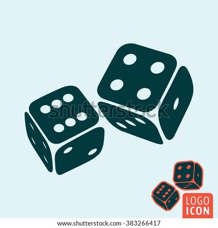 Dice icon. Dice logo. Dice symbol. Game dices icon isolated, casino symbol minimal design. Vector illustration - stock vector