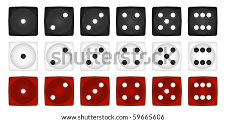 Dice set. Vector. - stock vector