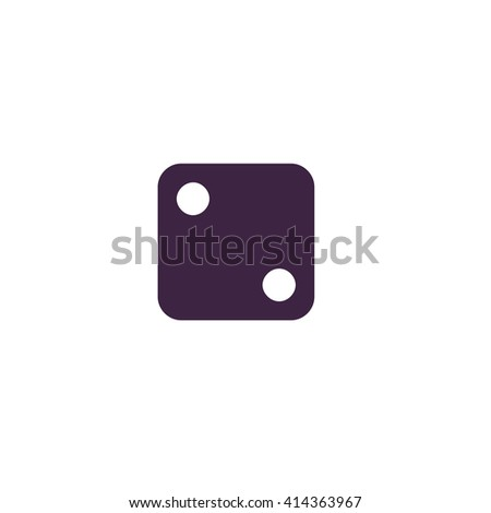 dice 2 Simple flat blue vector icon on white background - stock vector