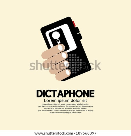 Dictaphone Vector Illustration - stock vector