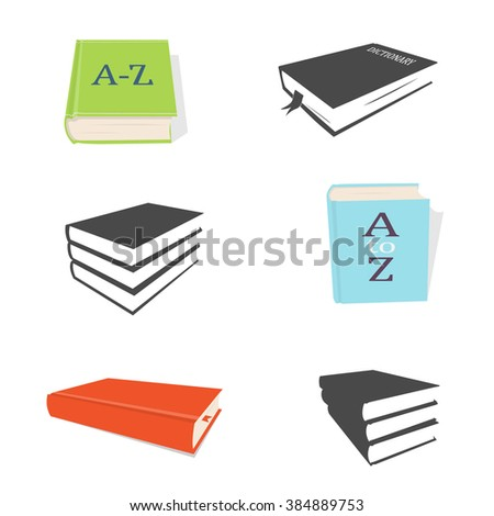Dictionary icons - stock vector