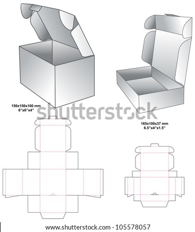 die horizontal gift box - stock vector