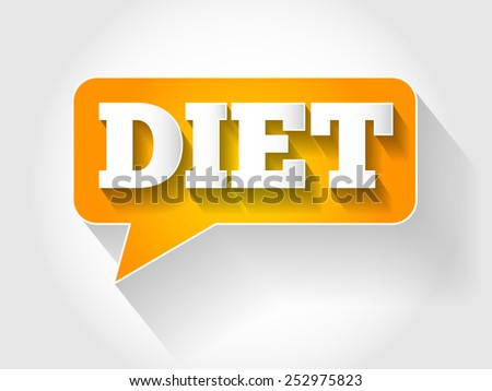 DIET message bubble concept - stock vector