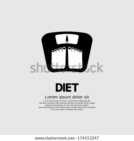 Dietetics Concept Vector Illustration - stock vector