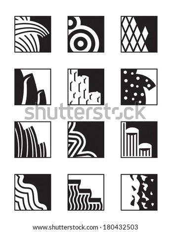 Different building surfaces - vector illustration - stock vector