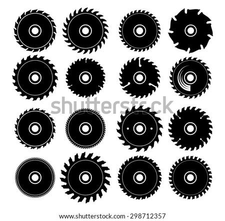 different circular saw blades - stock vector