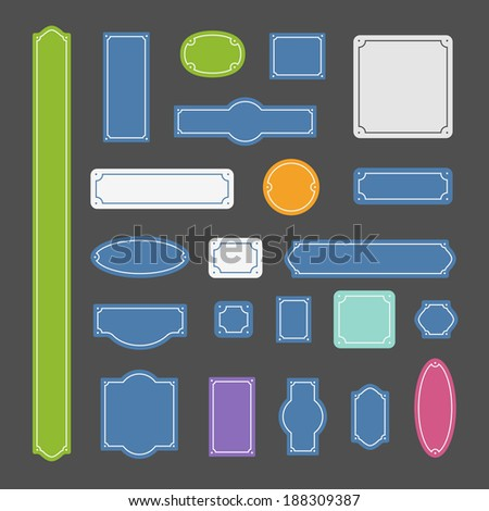 Different color bords. Ready for a text - stock vector