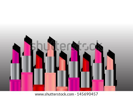 Different color of lip sticks - stock vector