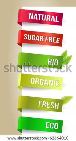 Different eco paper tags - Vector announcements - stock vector