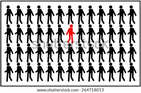 different people - stock vector