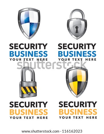 Different security business icons over white background vector illustration - stock vector
