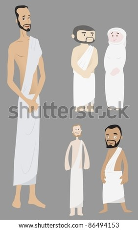 Different Style Pilgrims-vector - stock vector