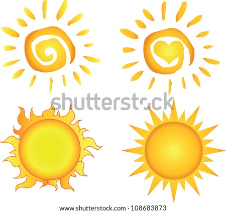 Different Sun .Vector Collection - stock vector