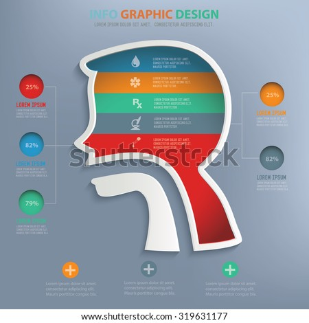 Digestive system info graphic design,clean vector - stock vector