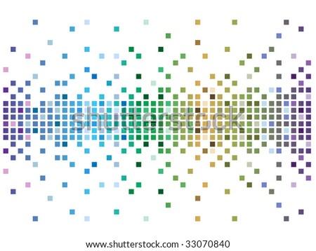 digital abstract pixel background - stock vector