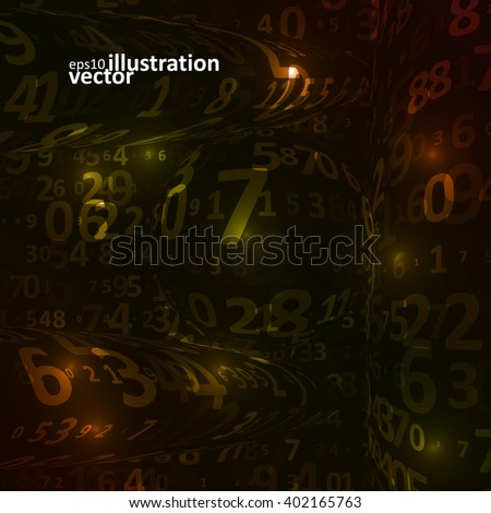 Digital code background, abstract vector illustration eps10 - stock vector