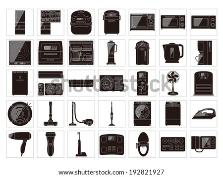 Digital consumer electronics  - stock vector