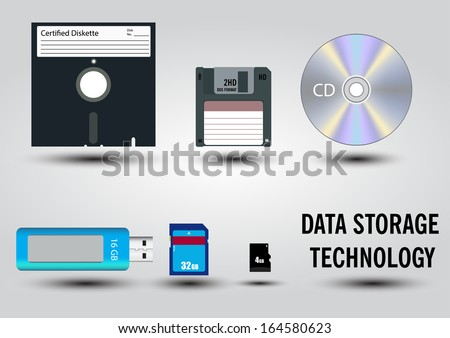 Digital data devices icon set vector images - stock vector