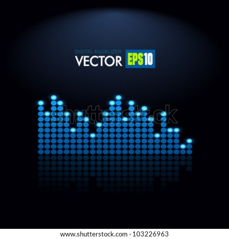 Digital Equalizer. Vector. - stock vector