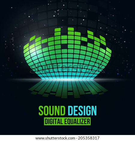 Digital equalizer vector background. Vector illustration for flyers, posters, banners - stock vector