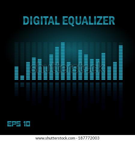 Digital equalizer. Vector, Eps 10. - stock vector