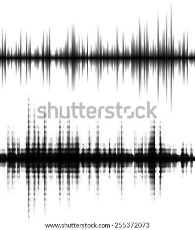 Digital equalizer. Vector illustration. - stock vector