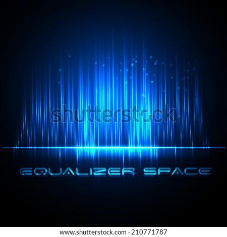 Digital Equalizer. Vector illustration. Equalizer space - stock vector