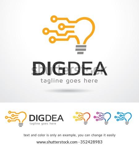 Digital Idea Logo Template Design Vector - stock vector