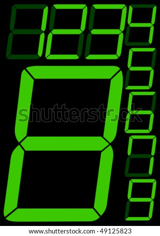 Digital numbers - vector illustration - stock vector