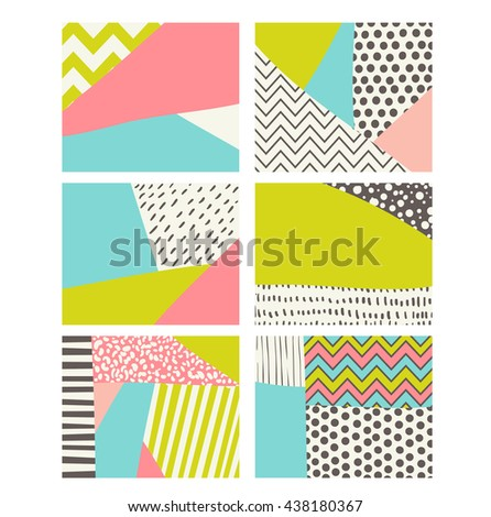 Digital patterns, scrapbook set, colorful background for beautiful design, Vector - stock vector