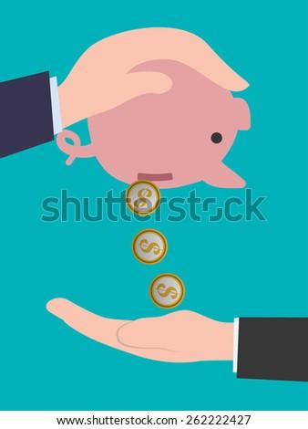 Digital payment design over blue background, vector illustration. - stock vector