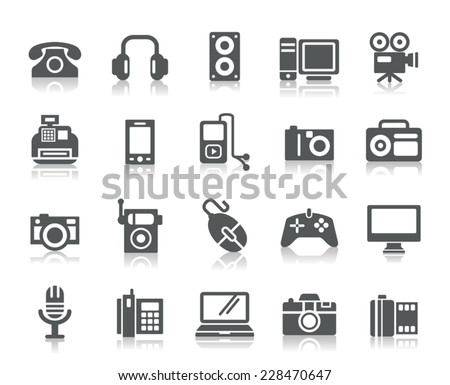 Digital Products Icons - stock vector