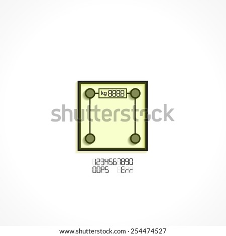 digital Scale, linear vector icons - stock vector