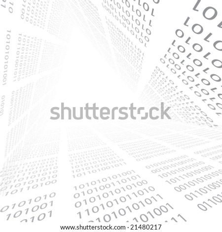 Digital stream. Binar code. - stock vector