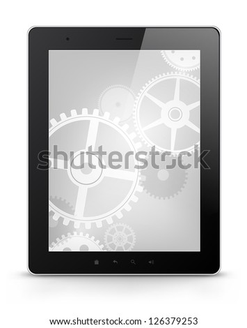 Digital Tablet Concept Isolated on White Background. Vector EPS 10. - stock vector