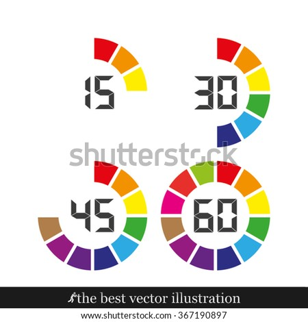 digital timer  icon - stock vector