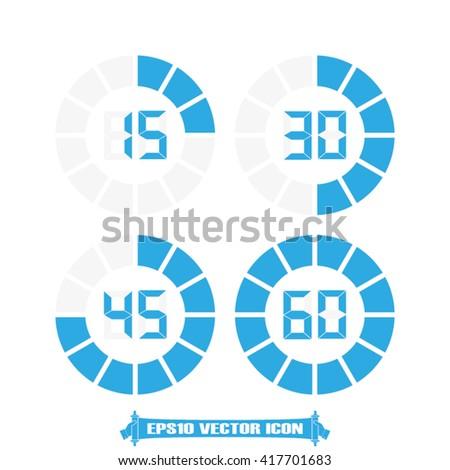 Digital timer icon vector. Digital timer Illustration, vector graphics eps. Digital timer logo. Digital timer web icon.Digital timer icon app. Digital timer icon, flat style design. Digital timer icon - stock vector