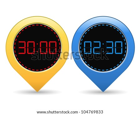 Digital Timers, vector eps10 illustration - stock vector