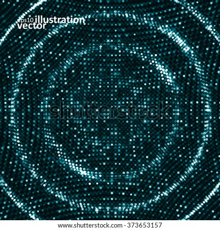 Digital waves background, abstract vector illustration eps10 - stock vector