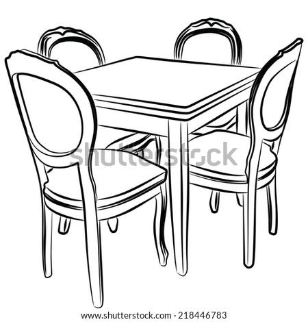 Dining room  - stock vector