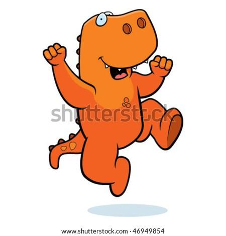 Dinosaur Jumping - stock vector