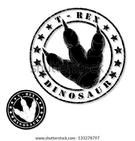 Dinosaur stamp - vector illustration - stock vector