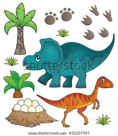 Dinosaur topic set 6 - eps10 vector illustration. - stock vector