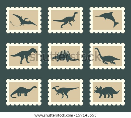 Dinosaurs set - stock vector