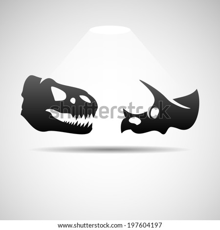 Dinosaurs skulls icon. Eps10 - stock vector