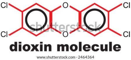 dioxin, illustration - stock vector