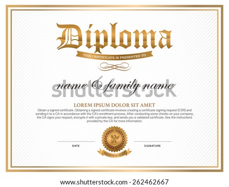 Diploma certificate template for High school diploma certificate fancy design templates