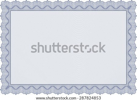 Diploma. Sophisticated design. With great quality guilloche pattern. Vector certificate template. - stock vector