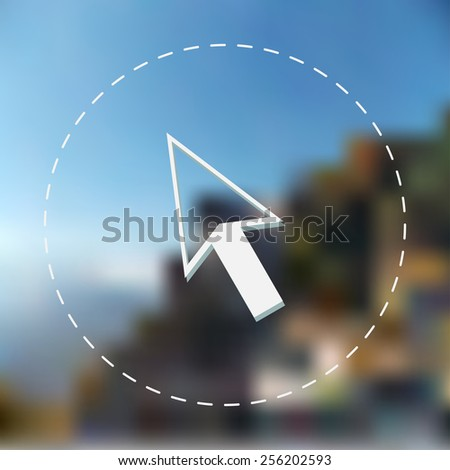 Direct selection arrow icon. Vector illustration. Blurred background. - stock vector