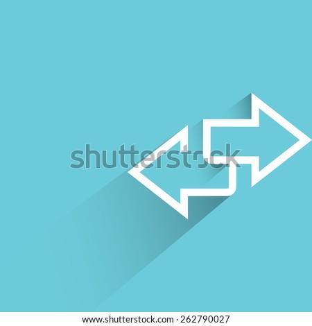 direction sign, inverse arrows - stock vector